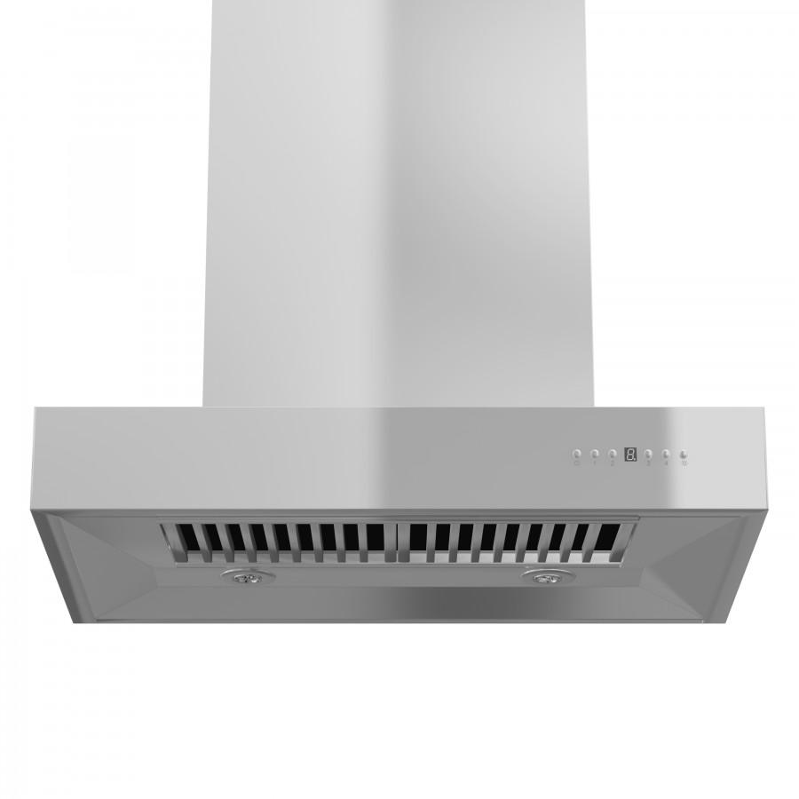 "ZLINE 48"" Stainless Steel Wall Range Hood, KECOM-48 - Farmhouse Kitchen and Bath"