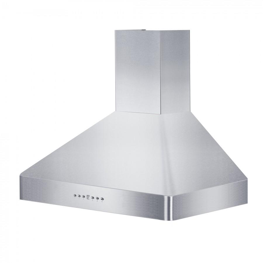 "ZLINE 36"" Stainless Steel Wall Range Hood, KF2-36 - Farmhouse Kitchen and Bath"