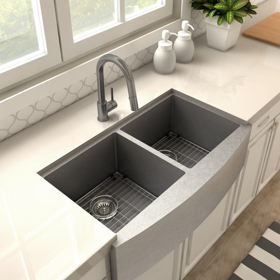 ZLINE Arthur Kitchen Faucet in Gun Metal (FPTB-GM) - Farmhouse Kitchen and Bath
