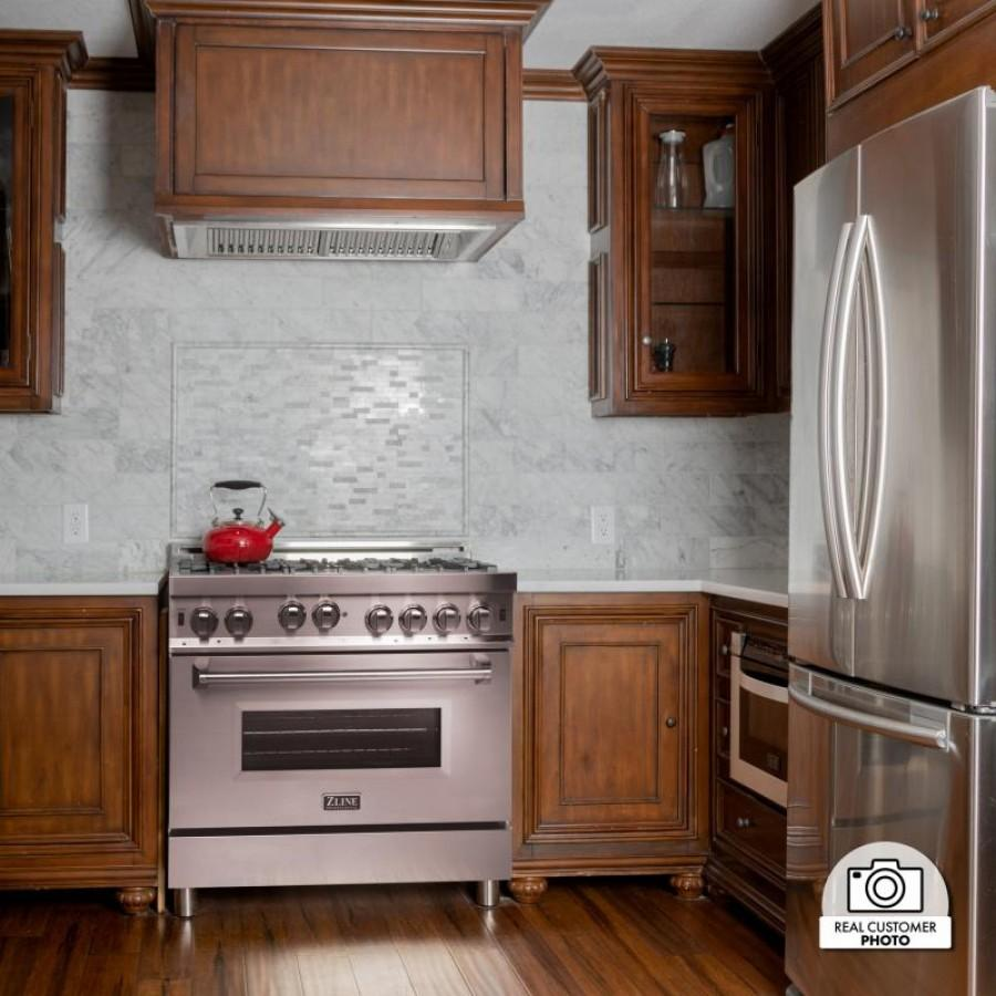 "ZLINE 46"" In/Outdoor Stainless Under Cabinet Range Hood Insert, 721-304-46 - Farmhouse Kitchen and Bath"