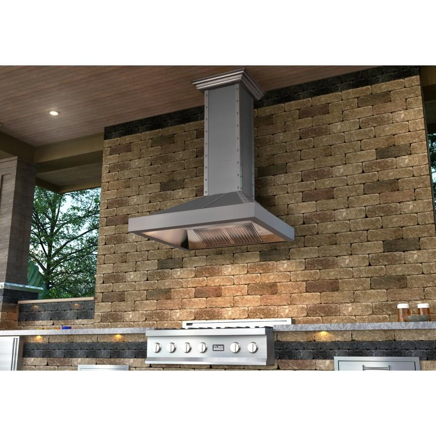 "ZLINE 30"" Stainless Wall Range Hood 655-4SSSS-30 - Farmhouse Kitchen and Bath"