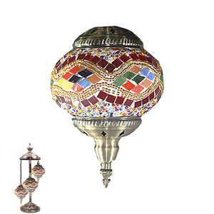 Handmade Floor Lamp With 3 Globe-337