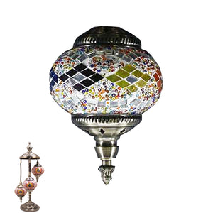 Handmade Floor Lamp With 3 Globe-343