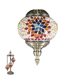 Handmade Floor Lamp With 3 Globe-348