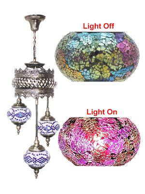 3 Globe Ceiling Hanging Lamp 601