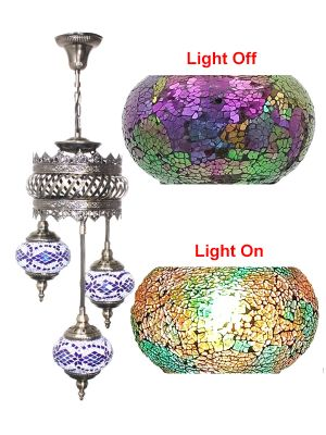 3 Globe Ceiling Hanging Lamp 602