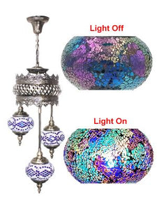 3 Globe Ceiling Hanging Lamp 603