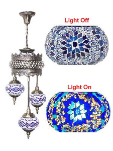 3 Globe Ceiling Hanging Lamp 604