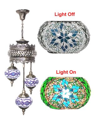 3 Globe Ceiling Hanging Lamp 605