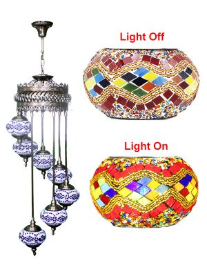 7 Globe Ceiling Hanging Lamp 625