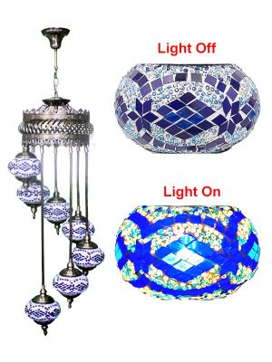 7 Globe Ceiling Hanging Lamp 626