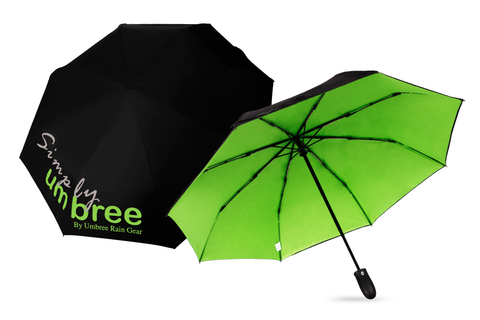 Lime Green Simply Umbree Folding Umbrella