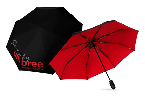 Red Simply Umbree Folding Umbrella