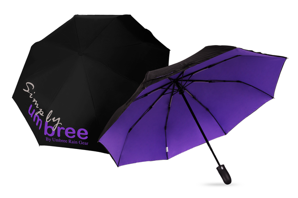 Purple Simply Umbree Folding Umbrella