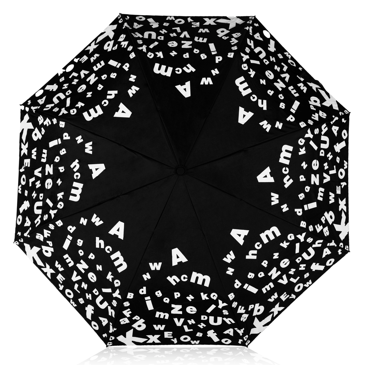 MyBrellie Black Color Changing Adult Folding Umbrella