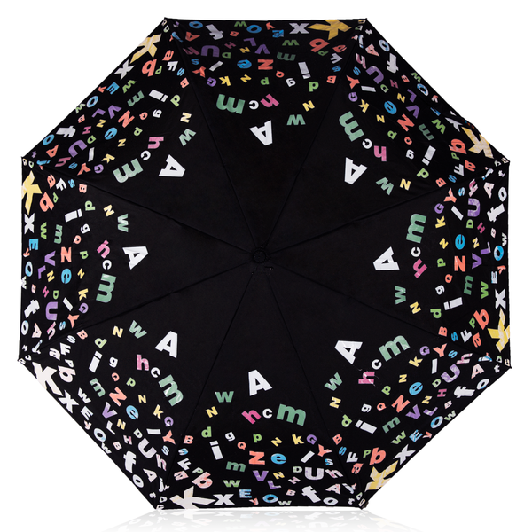 MyBrellie Adult Black Color Changing Folding Umbrella