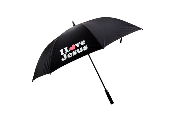 Black I Love Jesus Umbrella With Bible Verses On Inside