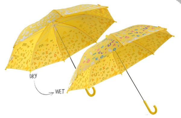 MyBrellie Kids Color Changing Yellow Umbrella