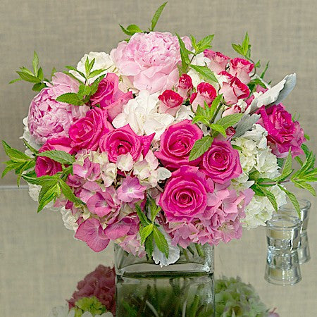 Mix Pink And White Seasonal Flowers Designers Choice