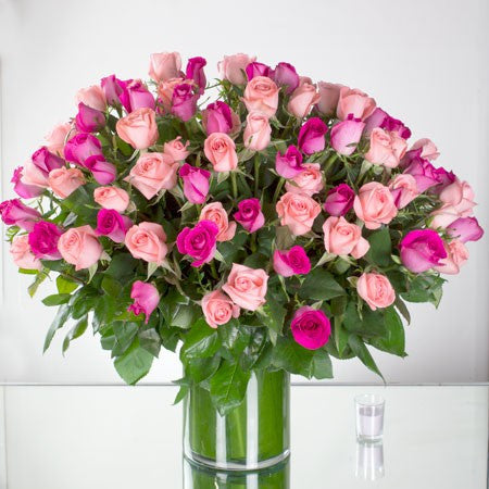 One Hundred Pink Roses