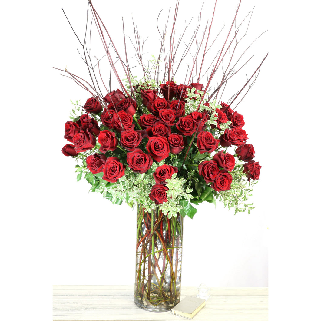 Four Dozen Long Stem South American Red Roses