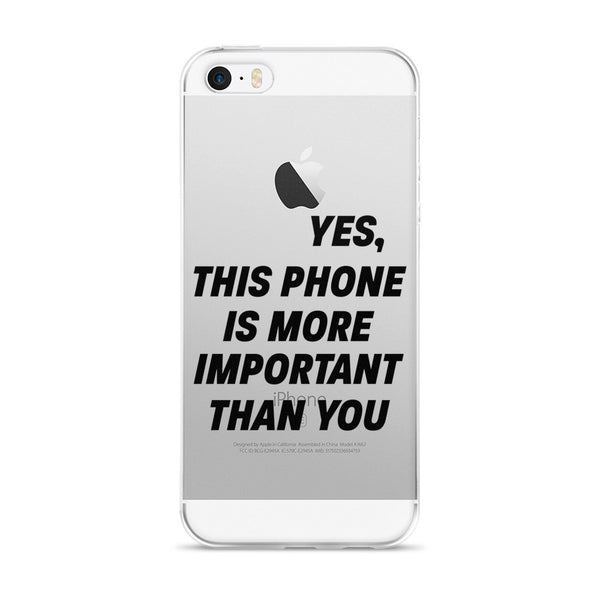 Important iPhone 5/5s/Se, 6/6s, 6/6s Plus Case