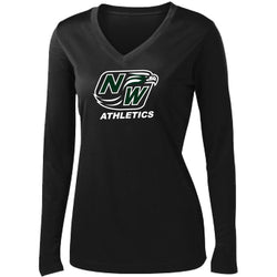 ATHLETICS - NEW LADIES LONG SLEEVE V-NECK DRI-FIT TEE