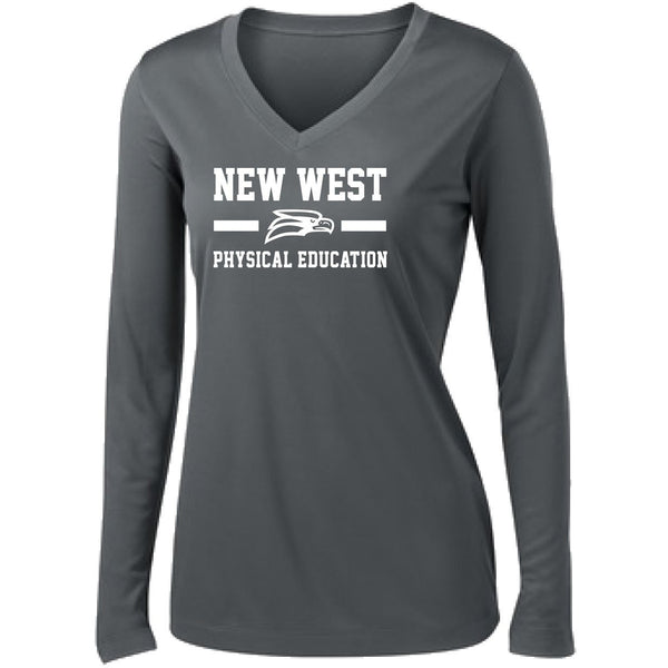 Phys. Ed NEW Ladies Long Sleeve Dri-Fit Tee