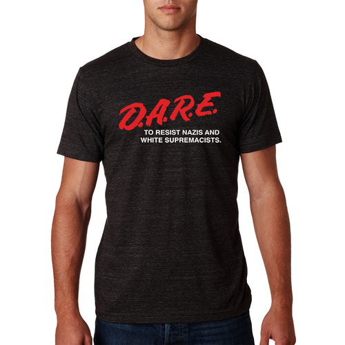 DARE to Resist Nazis Mens Triblend Shirt