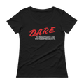 DARE to Resist Nazis Ladies Scoopneck Tee