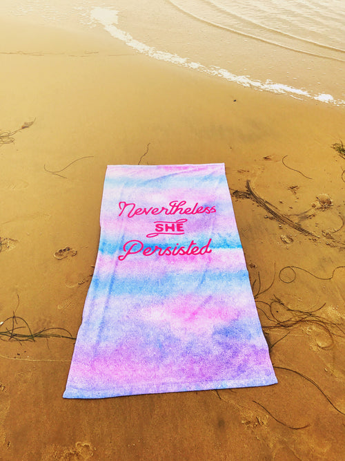 She Persisted Beach Blanket Towel