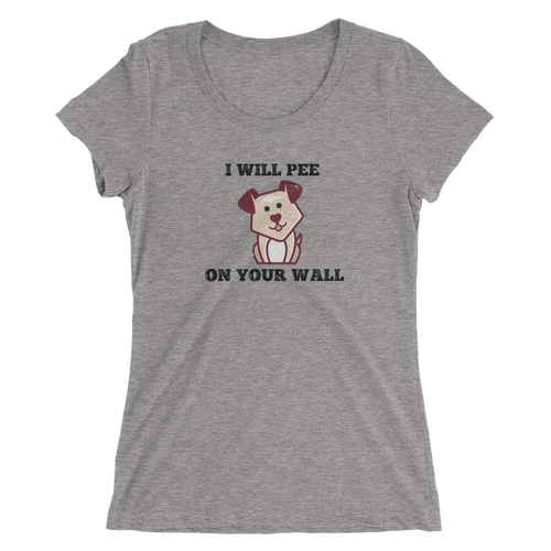 Mark My Wall Ladies Triblend Tee