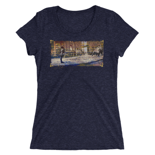 Fearless Girl Ladies Triblend Tee