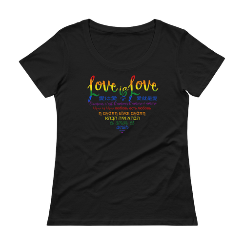 Love is Love Ladies Scoopneck Tee
