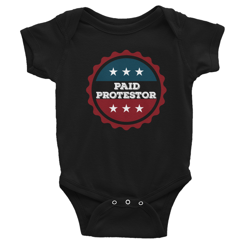 Paid Protestor Baby Bodysuit