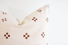 Hmong Block Print Pillow - Earth
