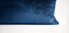 Velvet Pillow - Navy Lumbar