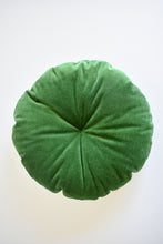 Velvet Round Pillow - Moss Green