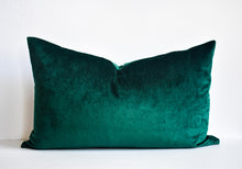 Velvet Pillow - Forest Green Lumbar
