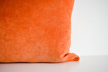 Velvet Pillow - Pumpkin Lumbar