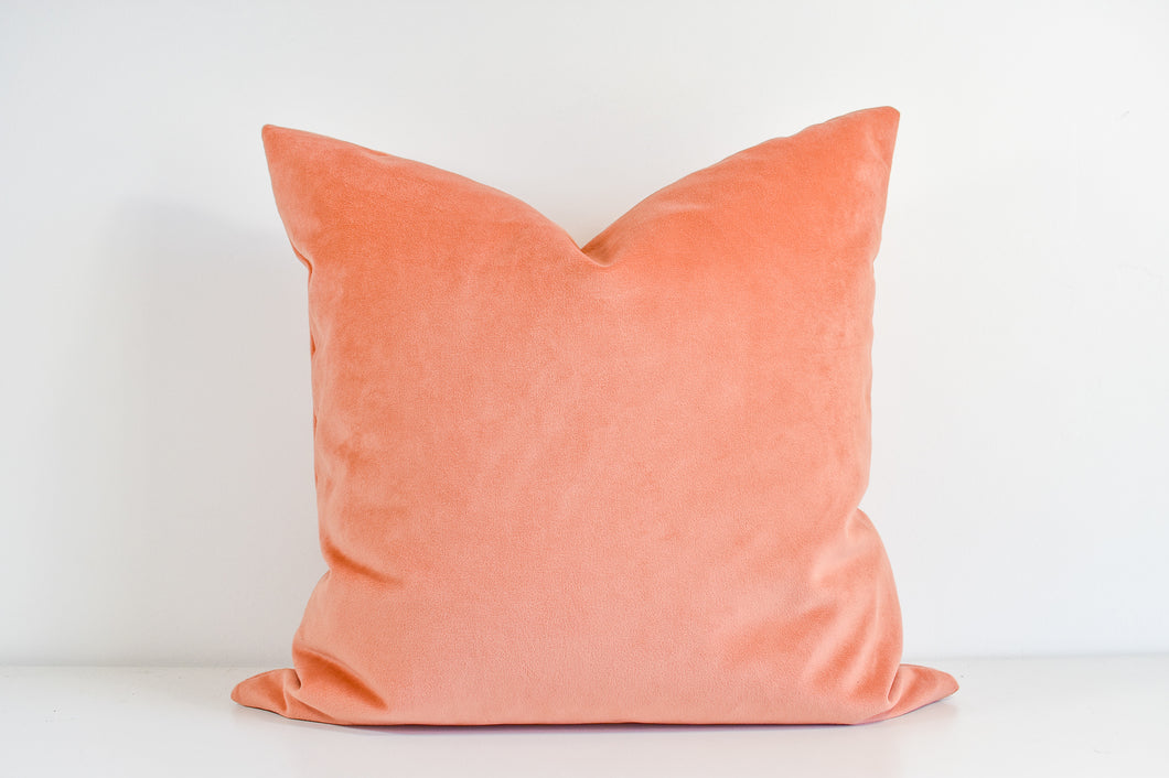 Velvet  Pillow - Dusty Peach