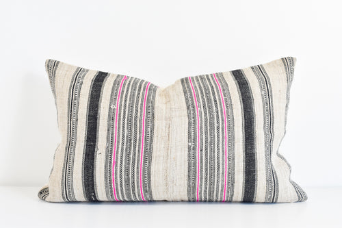 Vintage Hmong Hemp Pillow