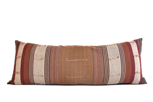 Vintage Hmong Organic Woven Pillow - Double Long