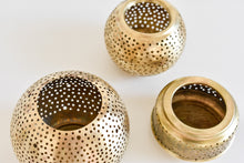 Moroccan Brass Candle Holder - Large