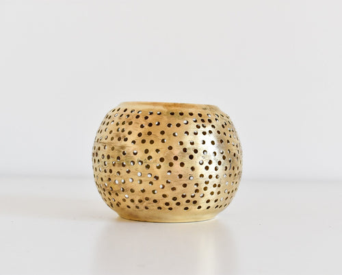 Moroccan Brass Candle Holder - Medium
