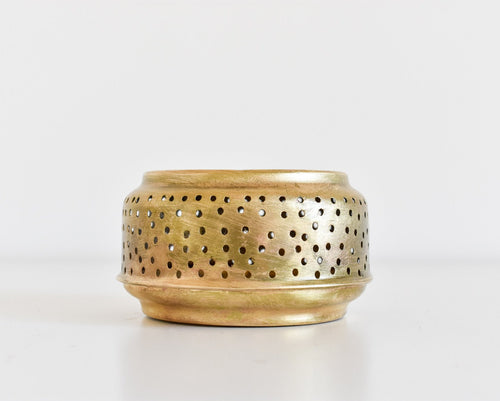 Moroccan Brass Candle Holder - Small