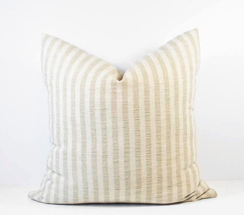 Hmong Organic Natural Striped Pillow