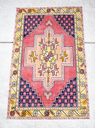 Vintage Turkish Rug - 3'7