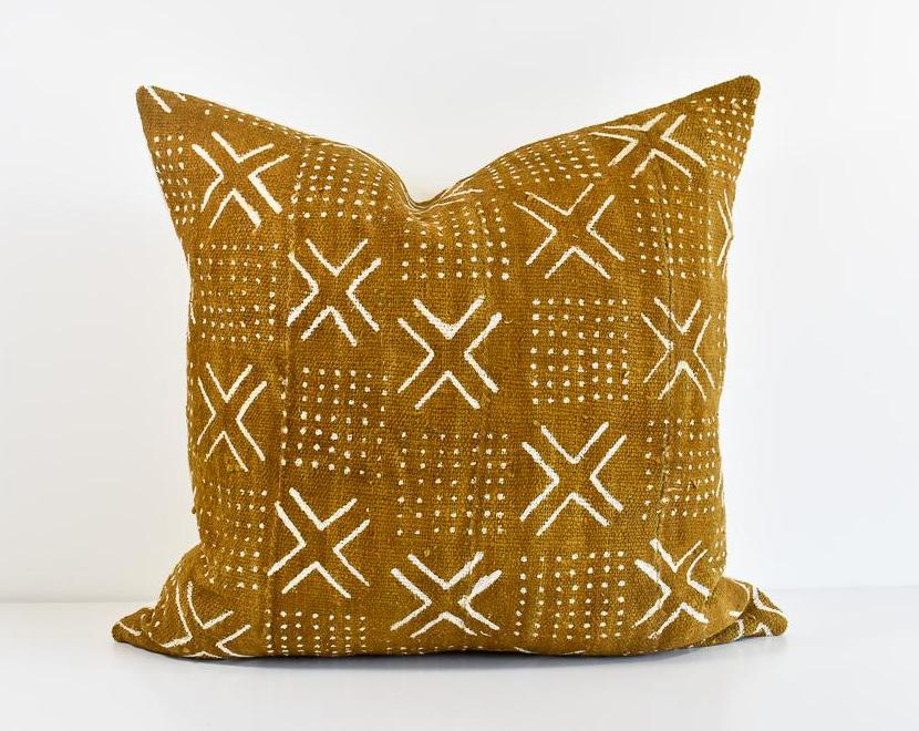 African Mudcloth Pillow