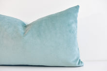 Velvet Lumbar Pillow - Skylight